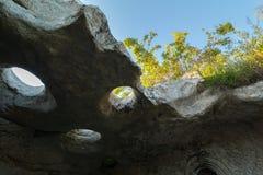 Πόλη Bakla σπηλιών σε Bakhchysarai Raion, Κριμαία στοκ εικόνες με δικαίωμα ελεύθερης χρήσης