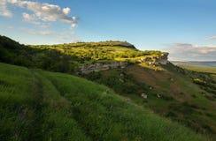 Πόλη Bakla σπηλιών σε Bakhchysarai Raion, Κριμαία στοκ φωτογραφίες