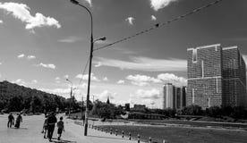 Πόλη bw Στοκ φωτογραφία με δικαίωμα ελεύθερης χρήσης