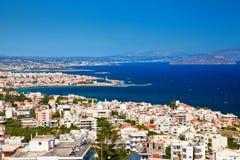 Πόλη Chania άνωθεν, Κρήτη στοκ φωτογραφία