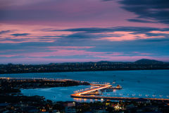 Πόλη Chonburi στο σούρουπο Στοκ Εικόνες