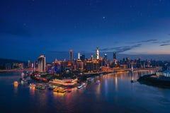 Πόλη Chongqing λαμβάνοντας υπόψη το αστέρι Στοκ εικόνα με δικαίωμα ελεύθερης χρήσης