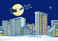 πόλη Claus πέρα από το santa Στοκ Εικόνες