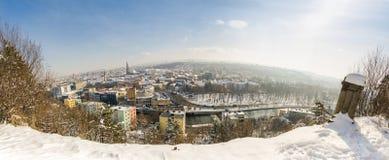 Πόλη Cluj-Napoca στην περιοχή της Τρανσυλβανίας του τηγανιού εικονικής παράστασης πόλης της Ρουμανίας Στοκ εικόνες με δικαίωμα ελεύθερης χρήσης