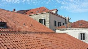 Πόλη Dubrovnik και του τοίχου, Κροατία Στοκ Εικόνες
