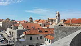 Πόλη Dubrovnik και του τοίχου, Κροατία Στοκ εικόνα με δικαίωμα ελεύθερης χρήσης