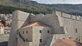 Πόλη Dubrovnik και του τοίχου, Κροατία Στοκ Φωτογραφίες