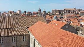 Πόλη Dubrovnik και του τοίχου, Κροατία Στοκ Φωτογραφία