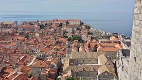 Πόλη Dubrovnik και του τοίχου, Κροατία Στοκ Εικόνα
