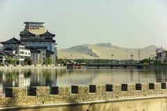 Πόλη Dunhuang της επαρχίας Gansu, Κίνα στοκ εικόνες με δικαίωμα ελεύθερης χρήσης