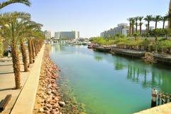 Πόλη Eilat θαλασσίως Λέσχη μαρινών και γιοτ Στοκ Φωτογραφίες
