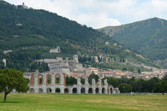 Πόλη Gubbio στην Ουμβρία, Ιταλία Στοκ εικόνα με δικαίωμα ελεύθερης χρήσης