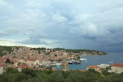 Πόλη Hvar στην Κροατία Στοκ Εικόνα
