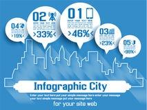 Πόλη Infographic Στοκ φωτογραφίες με δικαίωμα ελεύθερης χρήσης