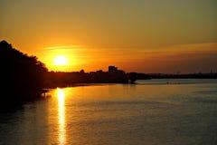 Πόλη Kaniv, Ουκρανία Ποταμός Dnipro Πάρκο Shevchenko Taras Στοκ Εικόνες