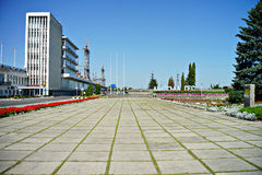 Πόλη Kaniv, Ουκρανία Ποταμός Dnipro Πάρκο Shevchenko Taras Στοκ εικόνα με δικαίωμα ελεύθερης χρήσης