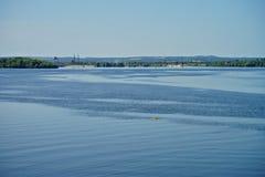 Πόλη Kaniv, Ουκρανία Ποταμός Dnipro Πάρκο Shevchenko Taras Στοκ εικόνες με δικαίωμα ελεύθερης χρήσης