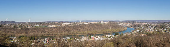 Πόλη Morgantown στη δυτική Βιρτζίνια Στοκ φωτογραφία με δικαίωμα ελεύθερης χρήσης