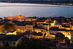 Πόλη Nafplio στο σούρουπο στοκ εικόνα με δικαίωμα ελεύθερης χρήσης