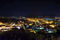 Πόλη Nafplio τη νύχτα στοκ εικόνα με δικαίωμα ελεύθερης χρήσης