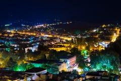 Πόλη Nafplio τη νύχτα στοκ εικόνες με δικαίωμα ελεύθερης χρήσης