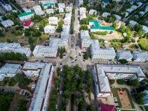 Πόλη Oktyabrsky, εναέρια άποψη Bashkortostan Στοκ Φωτογραφίες