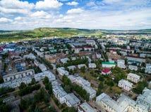 Πόλη Oktyabrsky, εναέρια άποψη Bashkortostan Στοκ Εικόνες