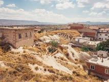Πόλη Ortahisar σε Cappadocia Τουρκία Στοκ φωτογραφίες με δικαίωμα ελεύθερης χρήσης