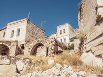 Πόλη Ortahisar σε Cappadocia Τουρκία Στοκ Εικόνες