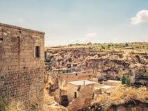 Πόλη Ortahisar σε Cappadocia Τουρκία Στοκ Φωτογραφίες