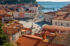 Πόλη Piran, αδριατική θάλασσα, Σλοβενία Στοκ Εικόνα
