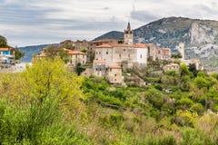 Πόλη Plomin που βρίσκεται στο Hill - Istria, Κροατία Στοκ φωτογραφία με δικαίωμα ελεύθερης χρήσης