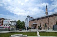 Πόλη Plovdiv κατά την προετοιμασία του ευρωπαϊκού κεφαλαίου του πολιτισμού το 2019 Στοκ Εικόνες