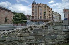 Πόλη Plovdiv κατά την προετοιμασία του ευρωπαϊκού κεφαλαίου του πολιτισμού το 2019 Στοκ εικόνα με δικαίωμα ελεύθερης χρήσης