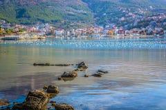 Πόλη Podstrana στην Κροατία, Ευρώπη Στοκ φωτογραφίες με δικαίωμα ελεύθερης χρήσης