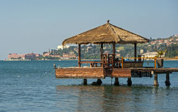 Πόλη Portoroz, αδριατική θάλασσα, Σλοβενία Στοκ εικόνες με δικαίωμα ελεύθερης χρήσης