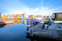 Πόλη scape της κωμόπολης μαρινών στις Κάτω Χώρες Στοκ Φωτογραφίες