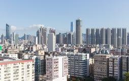 Πόλη skyline.kowloon Χονγκ Κονγκ Στοκ Φωτογραφίες
