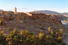 Πόλη Trit κοντά Tata, Oued Tissint, Μαρόκο Στοκ Φωτογραφίες