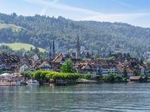 Πόλη Zug Ελβετία το καλοκαίρι Στοκ Εικόνα