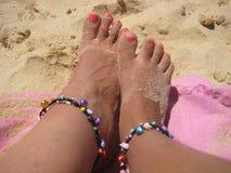 πόδια άμμου Στοκ εικόνες με δικαίωμα ελεύθερης χρήσης