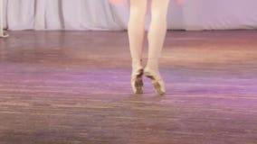 Πόδια ζευγαριού μπαλέτου απόθεμα βίντεο