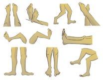 Πόδια κινούμενων σχεδίων Στοκ εικόνες με δικαίωμα ελεύθερης χρήσης