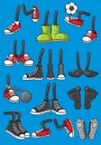 Πόδια κινούμενων σχεδίων απεικόνιση αποθεμάτων