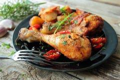 πόδια κοτόπουλου που ψήν Στοκ εικόνες με δικαίωμα ελεύθερης χρήσης