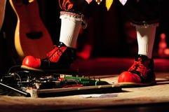Πόδια κλόουν Στοκ Φωτογραφία