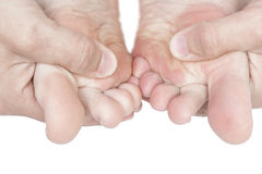 Πόδια μασάζ. Στοκ εικόνα με δικαίωμα ελεύθερης χρήσης