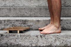 Πόδια με την εθνική παντόφλα Στοκ φωτογραφία με δικαίωμα ελεύθερης χρήσης