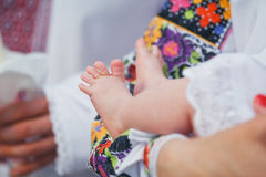 πόδια μωρών νεογέννητα Στοκ Φωτογραφία