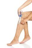 Πόδια που δένονται με το σχοινί Στοκ Φωτογραφία